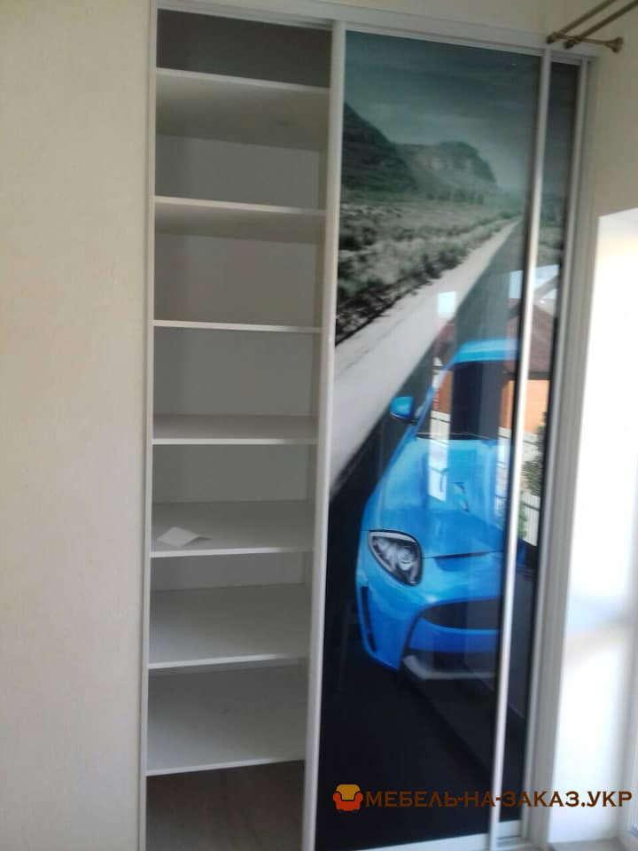 трехдверный шкаф купе с фотопечатью в детскую