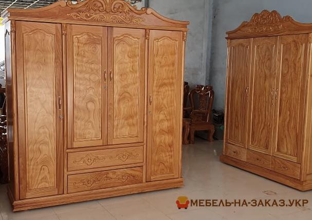 Деревянные шкафы для спальни на заказ
