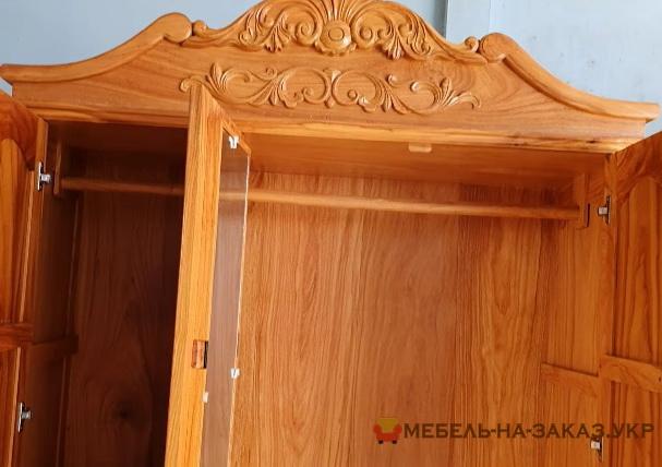 большой шкаф из дерева на заказ Киев