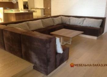 большой п образный диван в гостинную Буча