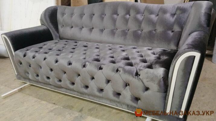 раскладной серый диван