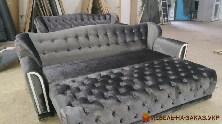 раскладной серый диван под заказ Киев