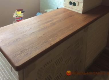 столешница дубовая в кухню под заказ