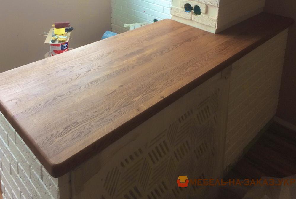 столешница дубовая в кухню под заказ цены