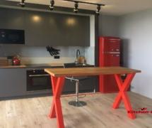 стол красный лофт