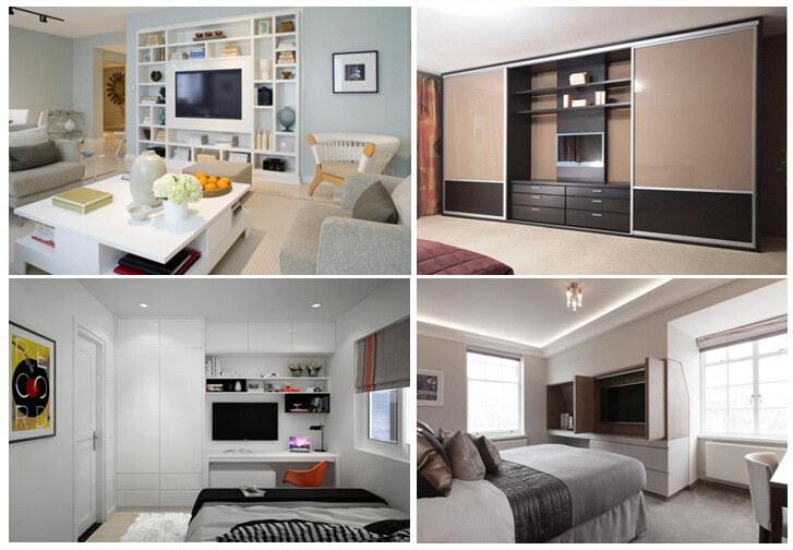 варианты мебельной стенки для телевизор