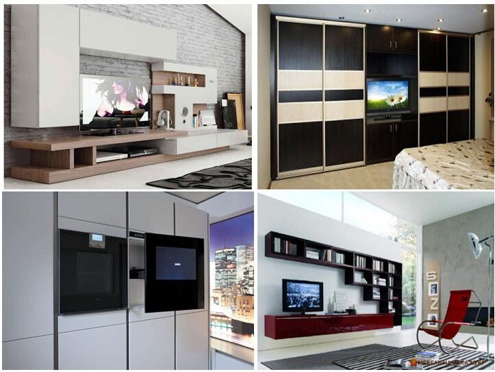 варианты мебельной стенки для телевизор идеи