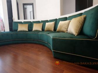 изготовление радиусного дивана для (ЖК Отрада)