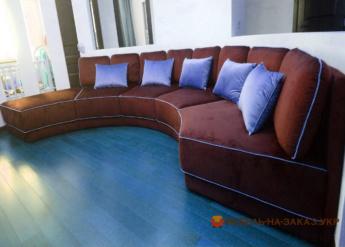 диван нестандартный элитная мягкая мебель угловая