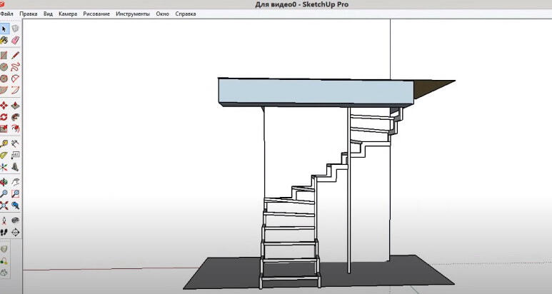 создать магет лестницы на второйэтаж