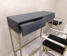 журнальный деревянный стол из металла в стиле лофт