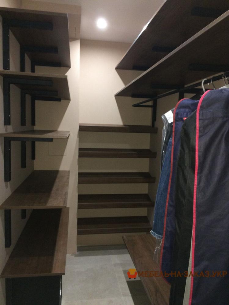 стеллаж в гардероб на заказ