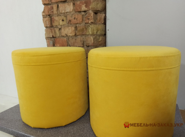 пуфики круглые желтого цвета