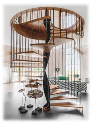 подвисная винтовая лестница