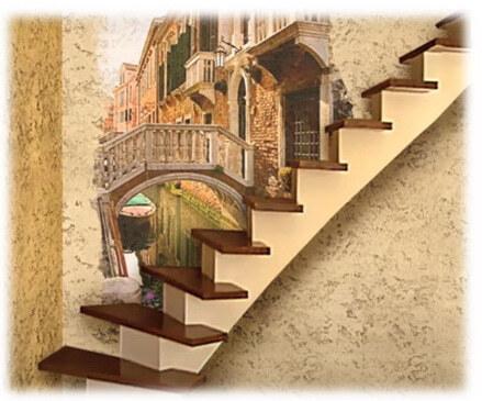 Лестница с деревянными ступенями без перил