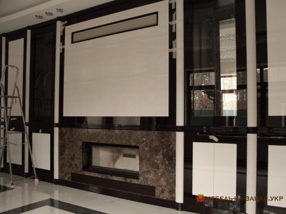 Модульная мебель в гостинную из дерева