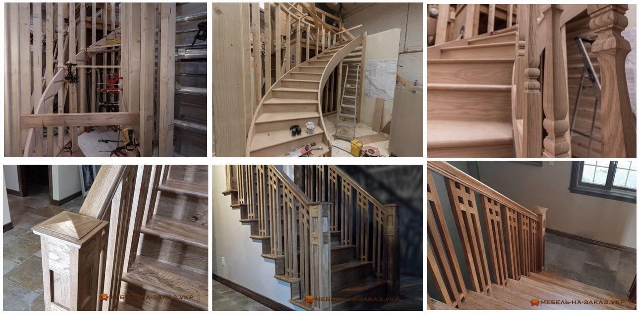 заказать изготовление лестницы в дом из дерева