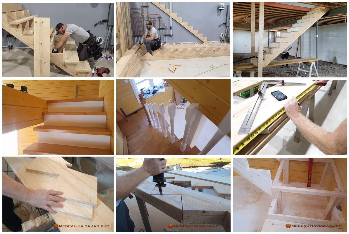Изготовление деревянных лестниц в дом Киев