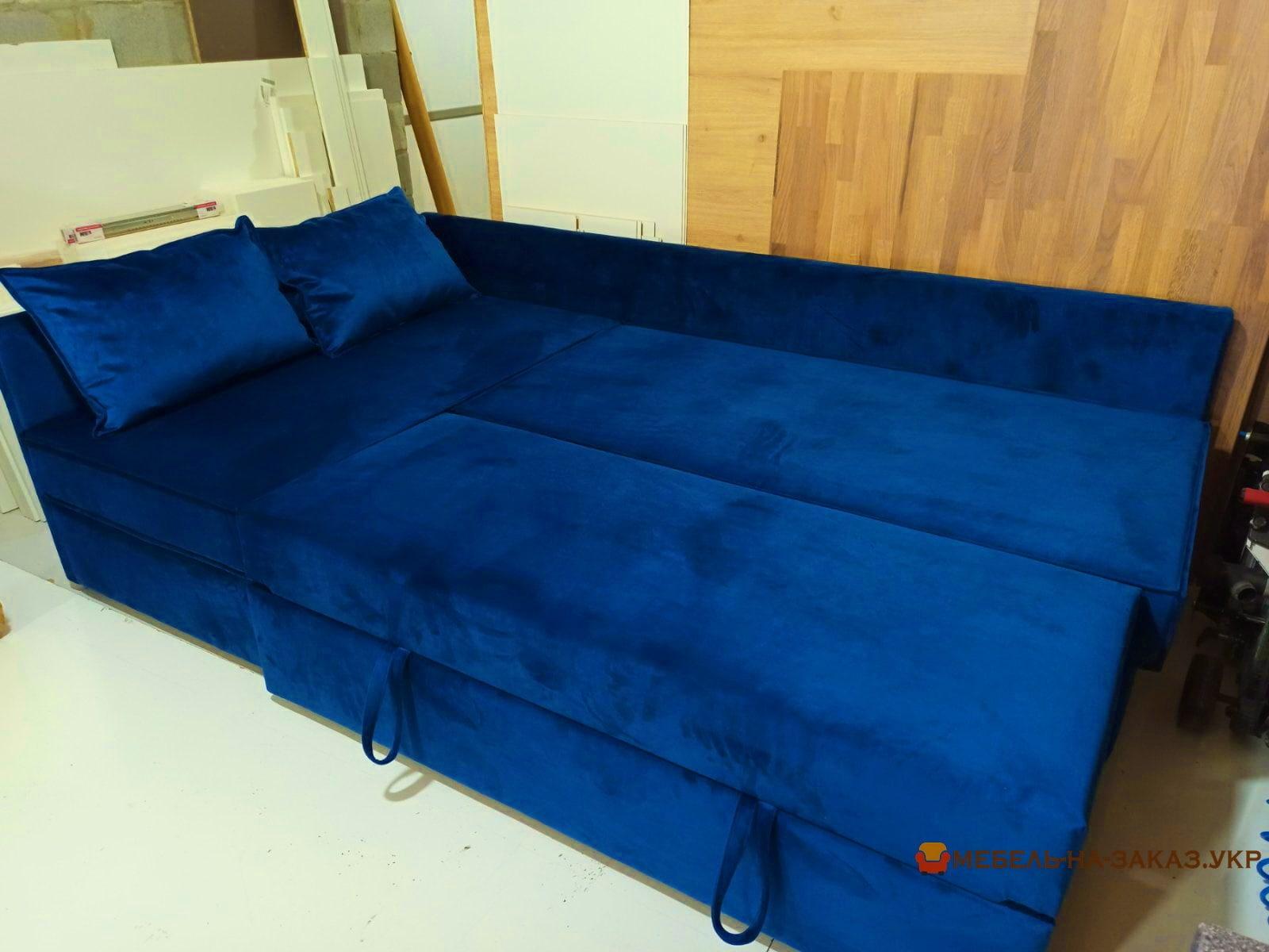 синий диван ракладной на заказ