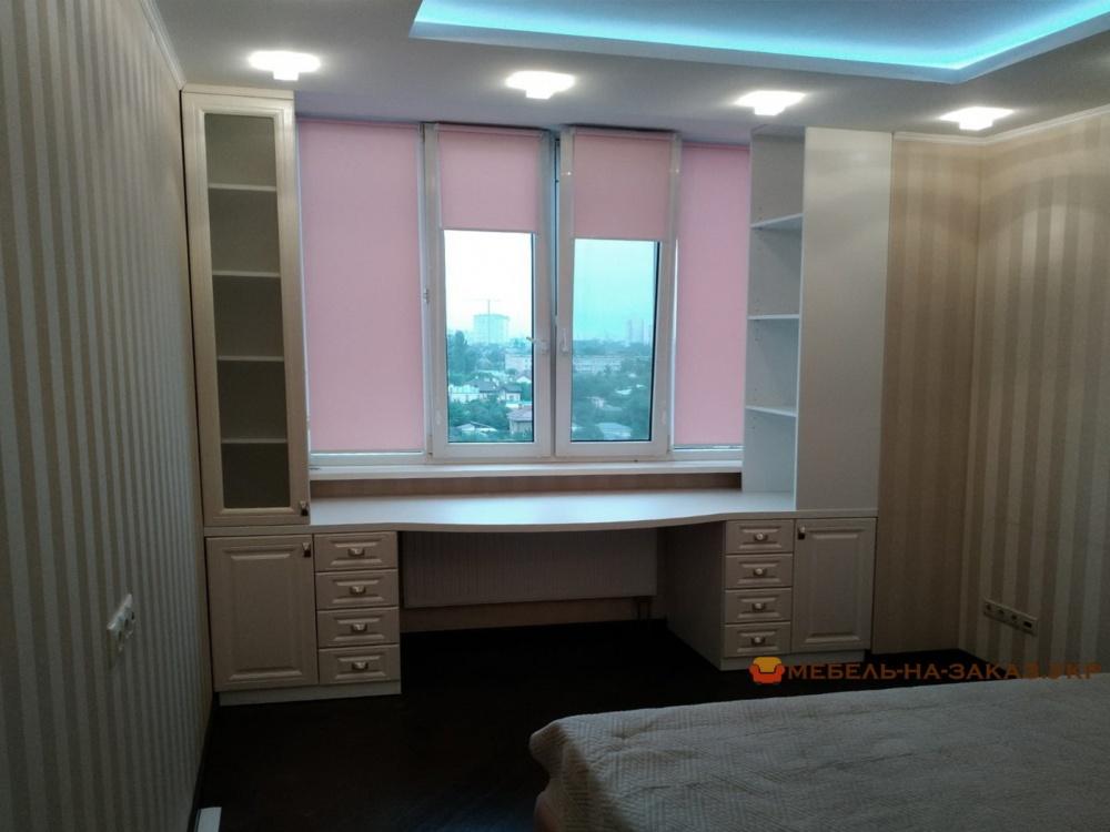 мбель вокруг окна в спальню на заказ Киев