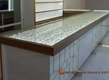 барная стойка из стекла под заказ в кухню