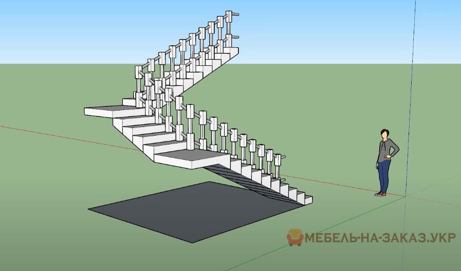 проект лестницы на компьютере