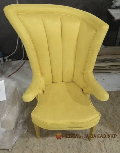кресло желтое