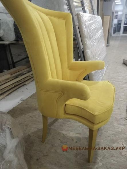 дизайнерское кресло желтое под заказ