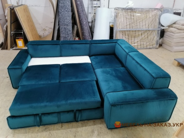 раскаладной диван синий для сна