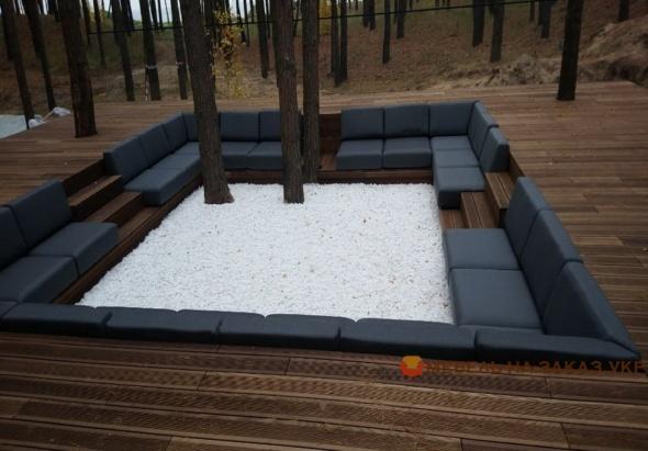 модульнй п образный диван в зону отдыха