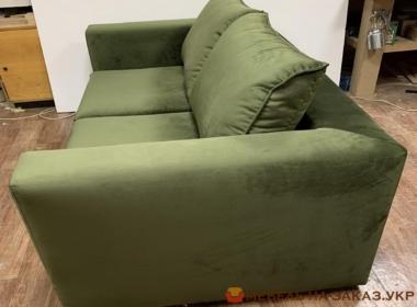 зеленый диван прямой для гостинной