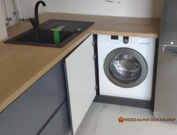 встроенная на кухне стиральная машина