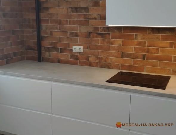 белые секции кухни