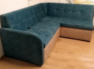 заказать угловой диван для гостиной зеленого цвета