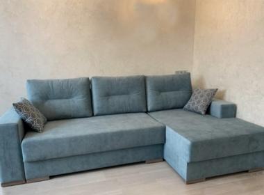 диван угловой модерн синего цвета для гостиной
