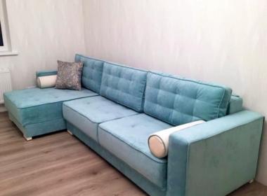 диван угловой модерн для гостиной синего цвета