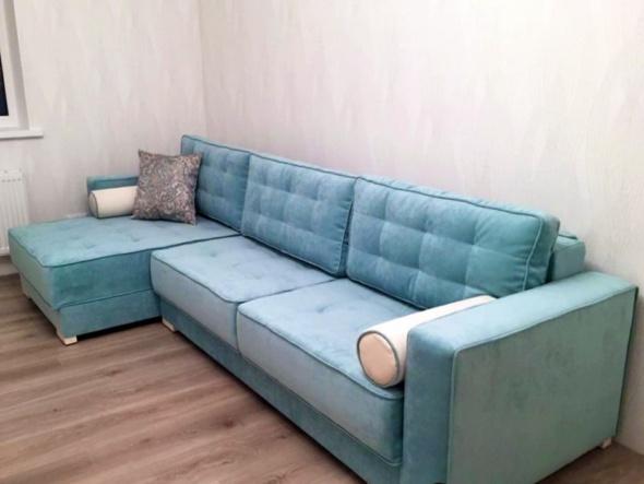 диван угловой модерн синего цвета