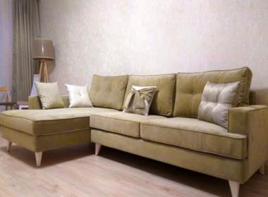 диван угловой модерн желтого цвета в гостинную