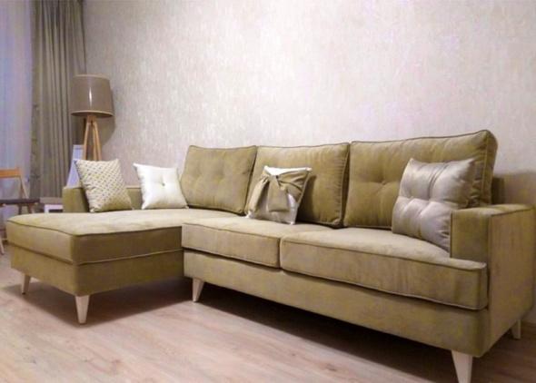 диван угловой модерн желтого цвета