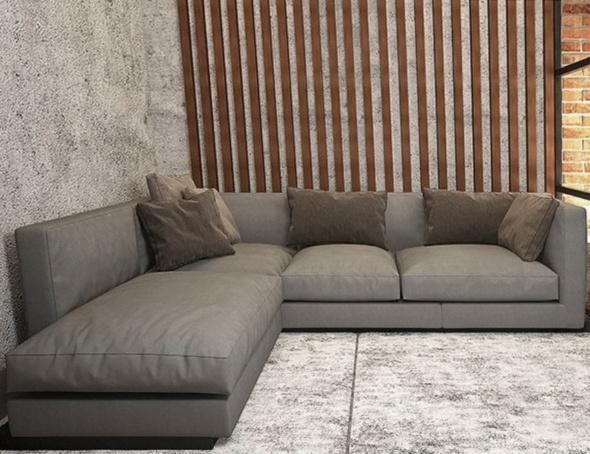 серый угловой дива для хола