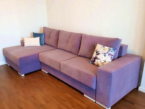 угловая мягкая мебель в гостиную