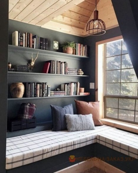 подоконник диван библиотека дизайнерские идеиидеи