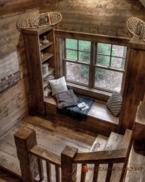 деревянная Подоконник-Банкетка на заказ