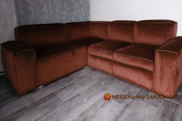 модульный красный диван