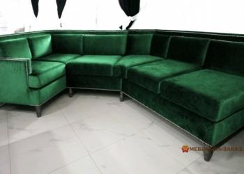 модульный зеленый диван