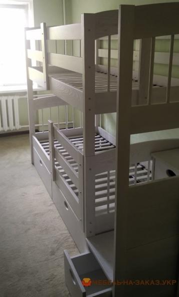 деревянная детская кроватка двухярусная