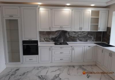 мебель угловая в кухню с подсветкой