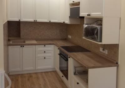 мебель угловая в кухню с дубовой столешницей