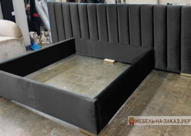 кровать черная мягкая на заказ