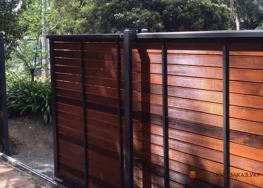 стоимость Ворота кованые деревянные